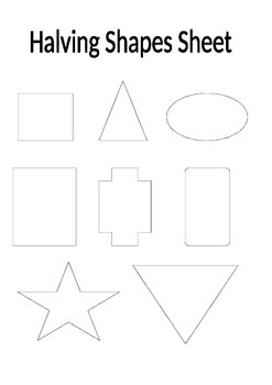 halving shapes worksheet by marks teaching resources tpt. Black Bedroom Furniture Sets. Home Design Ideas