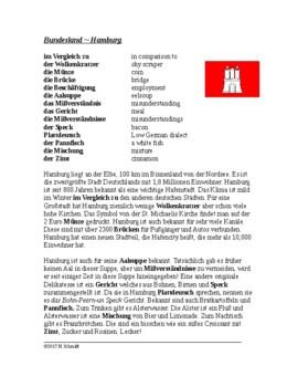 Hamburg Lesung - German Reading on Hamburg