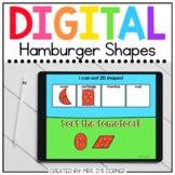 Hamburger 2D Shapes Digital Activity | Distance Learning