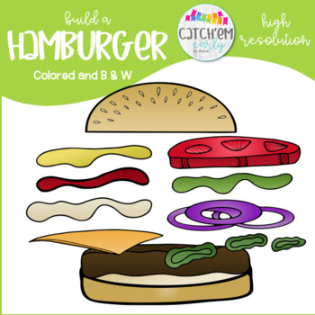 Hamburger Clip Art Color