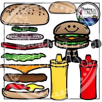 Hamburger Clipart Bundle