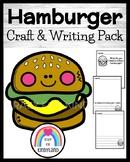 Hamburger Craft and Writing for Kindergarten