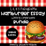 Hamburger Essay Writing Organizers BUNDLE: DIGITAL & PRINT 1, 4, & 5 Paragraphs