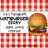 Hamburger Essay Writing Organizers: DIGITAL & PRINT (1, 4, & 5 Paragraphs)