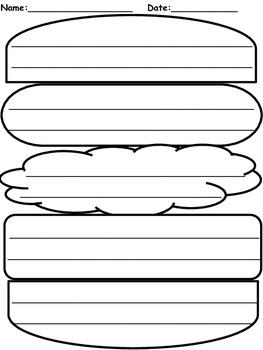 hamburger graphic organizer by elizabeth madrid tpt. Black Bedroom Furniture Sets. Home Design Ideas