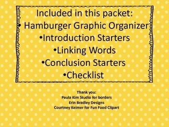 Hamburger Graphic Organizer Pow + TREEL