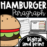 Hamburger Paragraph PowerPoint, Graphic Organizers, Rubric, and more