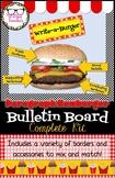 Paragraph Structure Hamburger Bulletin Board Complete Kit ELA Decor