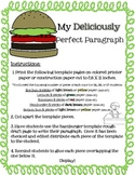 Hamburger Paragraph Craftivity Writing  Template