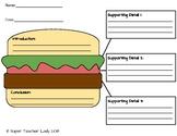 Hamburger Paragraph Graphic Organizer