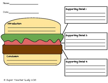 Hamburger essay handout