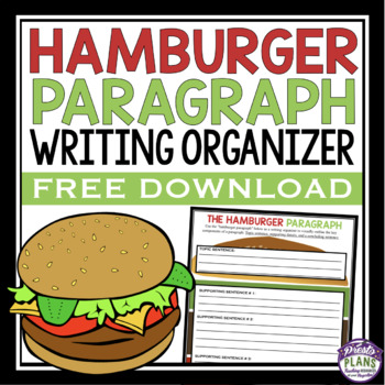 Free paragraph writing graphic organizer hamburger method by presto free paragraph writing graphic organizer hamburger method ccuart Image collections