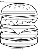 Hamburger Paragraph Organizer and Anchor Chart FREEBIE