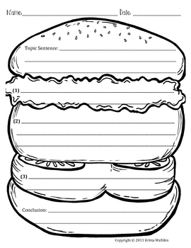 Hamburger Paragraph Picture Template by Krista Wallden - Creative ...