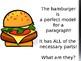 """""""Hamburger"""" Paragraph Writing Model"""