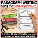 Hamburger Paragraph Template Writing Packet and Graphic Organizer