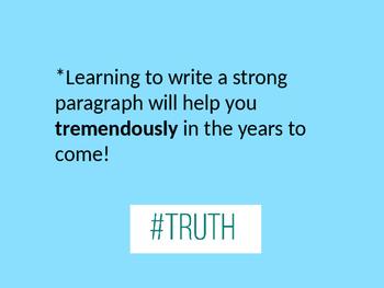 Hamburger Paragraph Writing Powerpoint
