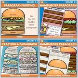 Hamburger Paragraph Writing Video, Handouts, Posters, and Craft Bundle