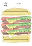 Hamburger Paragraph Writing Worksheet