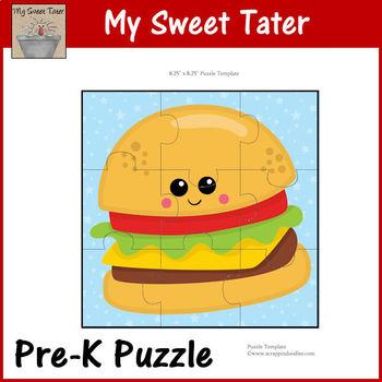Hamburger Pre-K Puzzle