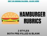 Hamburger Rubrics (Editable on Google Slides)