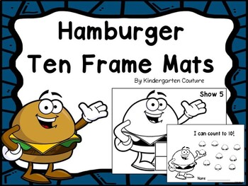 Hamburger Ten Frame Mats 1-10