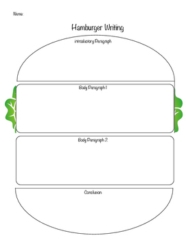 Hamburger writing 4 paragraph template by give me five tpt hamburger writing 4 paragraph template ccuart Choice Image