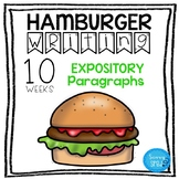 Hamburger Writing- Expository Paragraphs GREAT for special ed