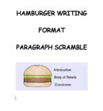 Hamburger Writing Format Paragraph Scramble Sentence Strips