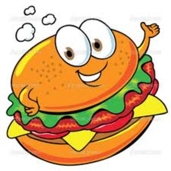 Hamburger Writing Graphic Organizer for Smartboard