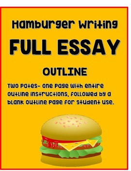 Hamburger Writing Outline (Full Paper) with cheese transitions
