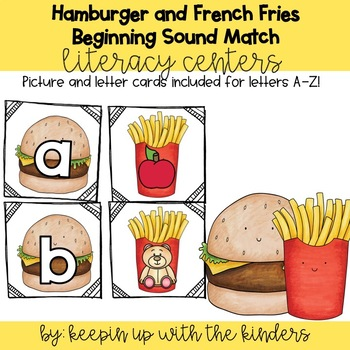 Hamburger and French Fries Beginning Sounds Match
