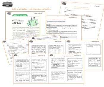 Hamburger model mini-lessons - Revise & edit papers / essays