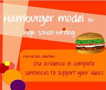 Hamburger model mini-lessons - Use evidence in writing