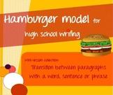 Hamburger model mini-lessons - Transition words & sentences in writing