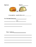 Hamburger vs. Taco Opinion Essay