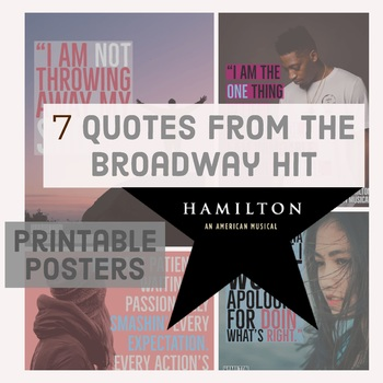 Hamilton An American Musical - Motivational Poster Bundle - Growth Mindset