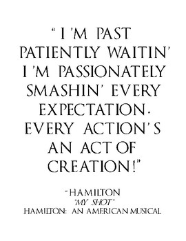 Hamilton: An American Musical Quotes