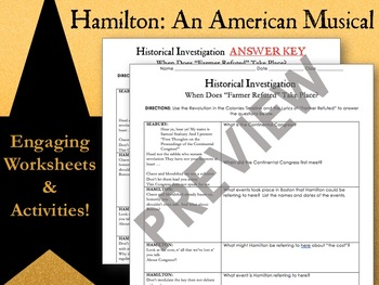 Hamilton: An American Musical - Unit Plan Bundle