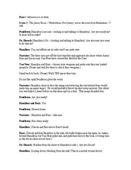 Hamilton-Burr Duel - A Play for the classroom