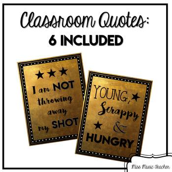 Hamilton-Inspired Classroom Quotes