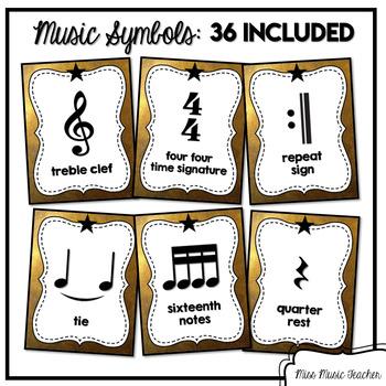 Hamilton-Inspired Music Symbols Posters