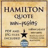 Hamilton Mini Posters- 3 sets in 1!