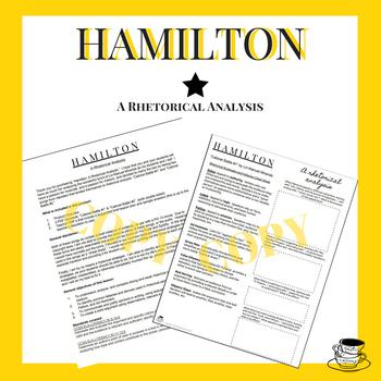 Hamilton Rhetorical Analysis