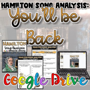 "Hamilton Song Analysis:  ""You'll Be Back""- {Digital}"