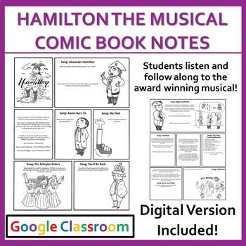 Hamilton The Musical: Comic Book Notes
