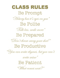 Hamilton Themed Musical Theatre Class Rules