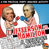 Hamilton VS Jefferson Opposition Grudge Match Common Core Activity