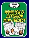 Hamilton and Jefferson Booklet Project Federalists vs Democratic Republicans