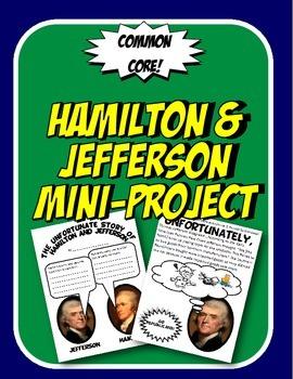 Hamilton and Jefferson Booklet Project Federalists vs Demo